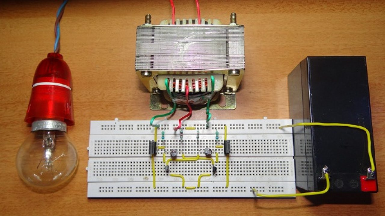 How To Make 12v DC to 220v AC Converter/Inverter Circuit Design?  Best Images Of Dc Light Wiring Diagram John on