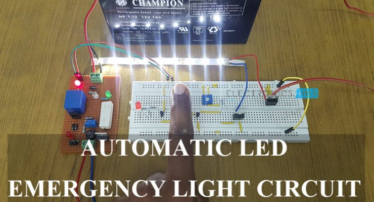 Automatic LED Emergency Light Circuit Featured Image
