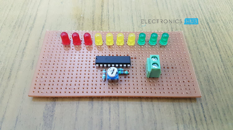 battery level indicator circuit using lm3914battery level indicator circuit image 1