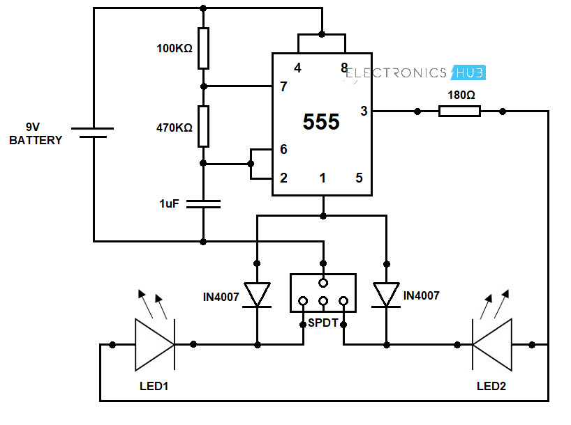 Remarkable Bike Turning Signal Indicator Circuit Using 555 Timer Wiring Digital Resources Sapredefiancerspsorg