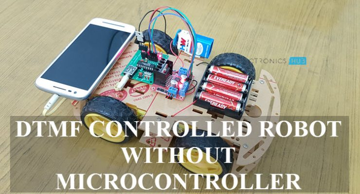 DTMF Controlled Robot without Microcontroller Featured Image