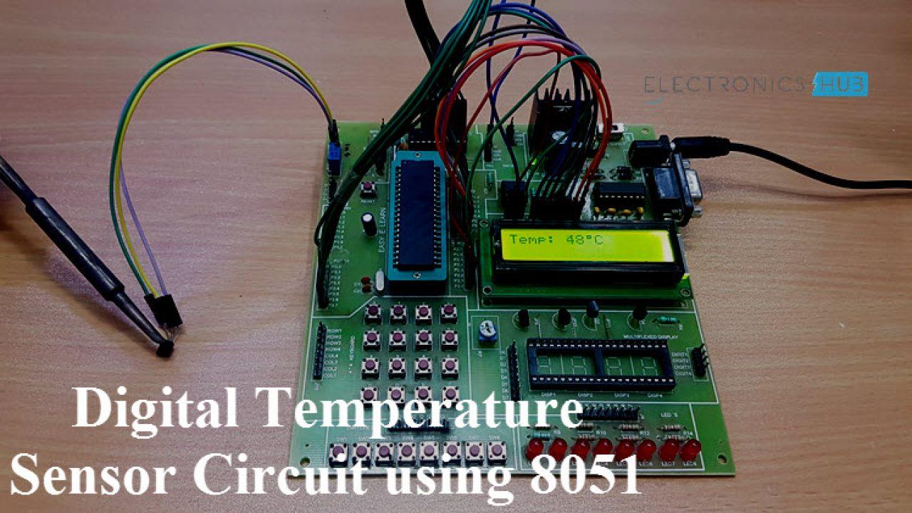 Digital Temperature Sensor Circuit using 8051 & AVR