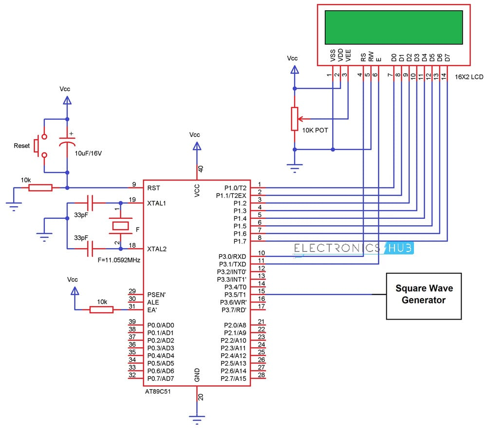 Frequency Counter Circuit Working And Applications Astable Multivibrator Using Ic 555 Free Electronic Diagram