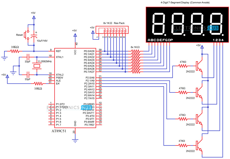 Interfacing 7(Seven) Segment Display to 8051 Microcontroller