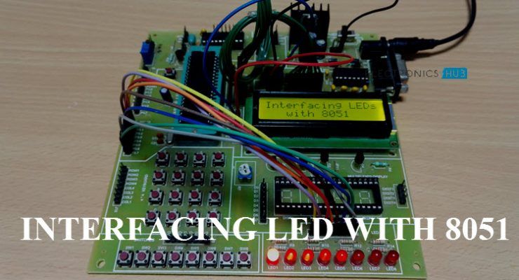 Interfacing LED with 8051