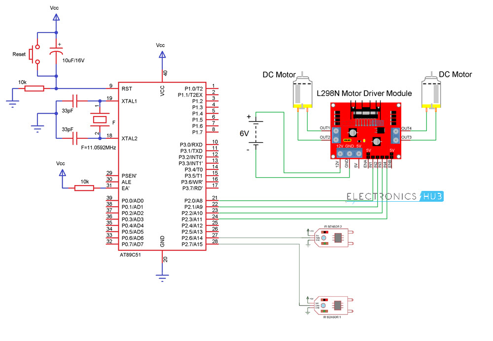 Line Follower Robot Tutorial Which Contains Schematic Diagram Robot