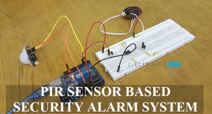 PIR Sensor based Security Alarm System using Arduino Featured Image
