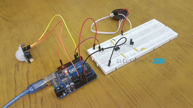PIR Sensor based Security Alarm System using Arduino Image 2
