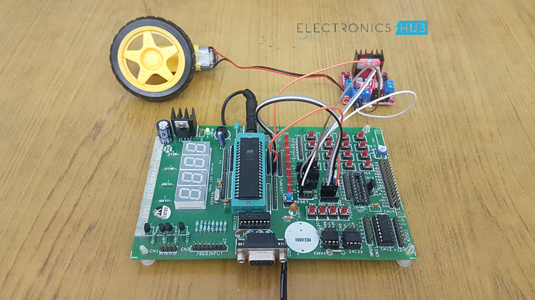 PWM Based DC Motor Speed Control using Microcontroller Image 1