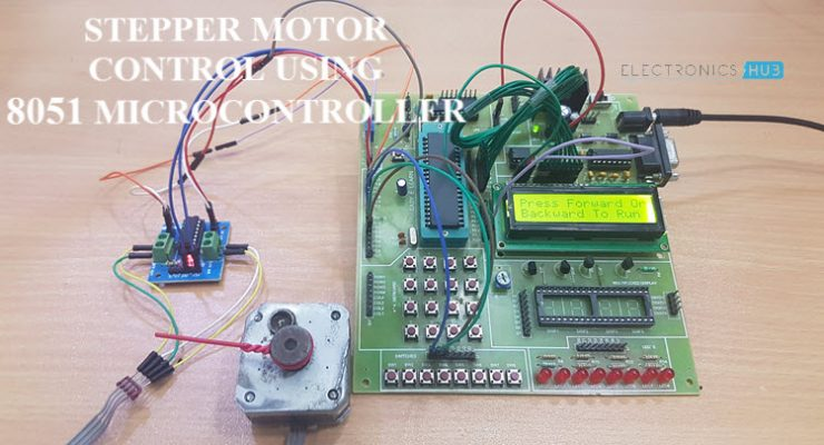 Stepper Motor Control using 8051 Microcontroller Featured Image