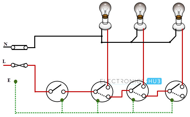 electrical wiring systems and methods of electrical wiring rh electronicshub org light bulb wiring diagram h7 bulb wiring diagram