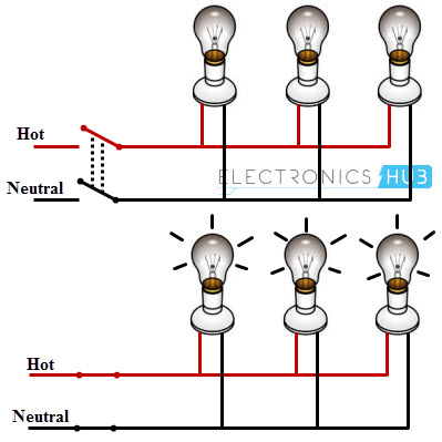 Wiring Lights In Series Or Parallel - Home Wiring Diagrams on series vs. parallel subwoofer diagram, parallel circuit diagram, batteries in parallel diagram, series and parallel electrical wiring, series circuit diagram, series parallel speaker wiring calculator,