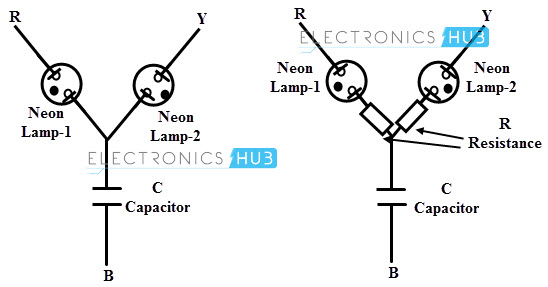 three phase sequence indicator circuit diagram