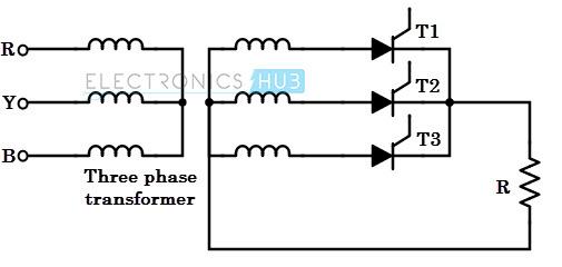 Three-phase half-wave converter