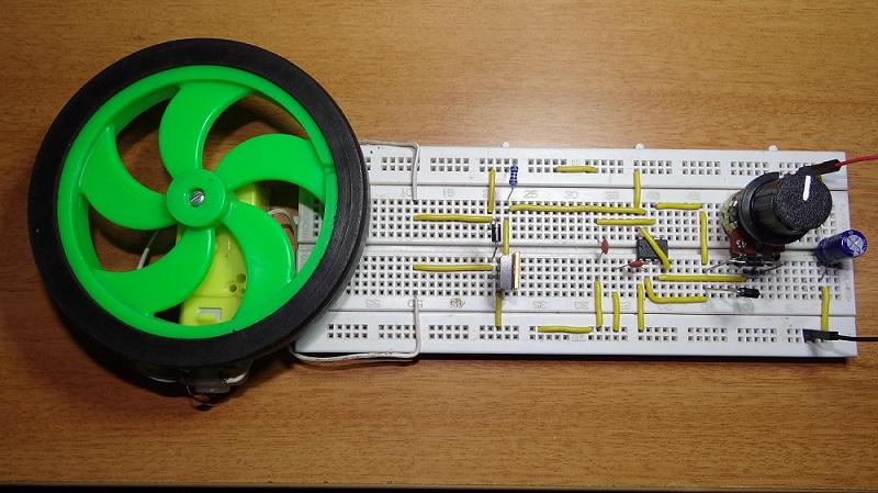 Control de velocidad del motor de CC