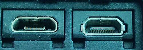 Micro USB and Micro HDMI