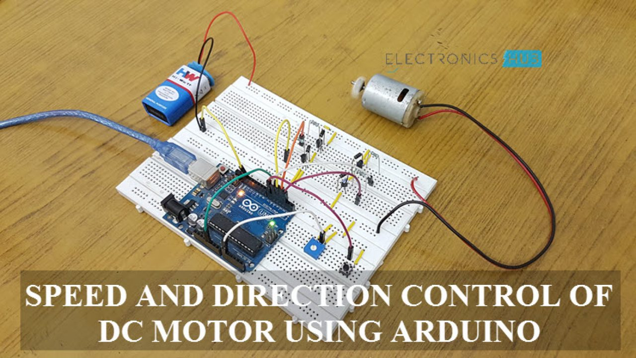 Controlling Speed and Direction of DC Motor using Arduino