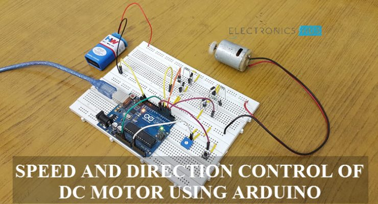 Speed and Direction Control of DC Motor using Arduino Featured Image