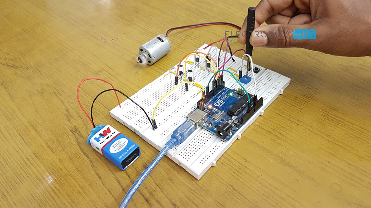 Speed and Direction Control of DC Motor using Arduino Image 2