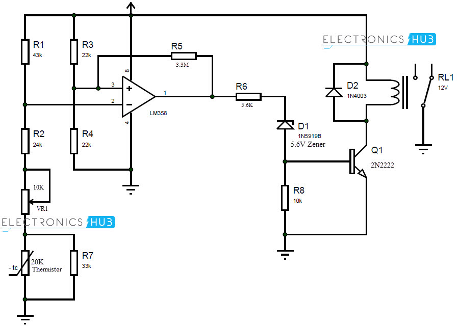 thermistor based hvac thermostat