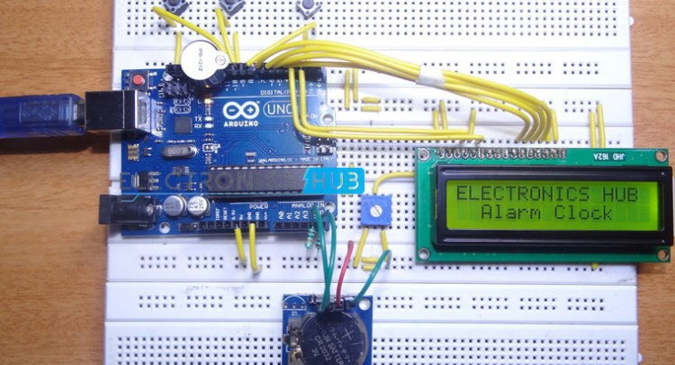10 simple arduino projects for beginners with code description this project presents an alarm clock using arduino real time clock is used in order to get accurate time here this system displays date and solutioingenieria Image collections