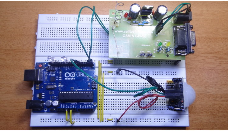 Arduino GSM Home Security Alarm System image
