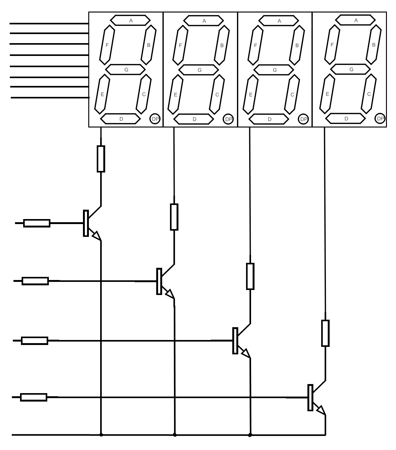 seven segment led pin diagram