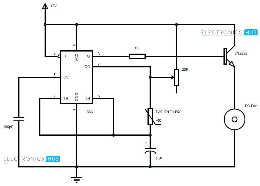 PC Fan Controller Circuit fan controller circuit wiring diagram for pc cooling fan at readyjetset.co