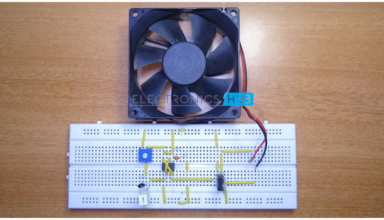pc fan controller circuit rh electronicshub org cpu fan wiring color code cpu fan installing