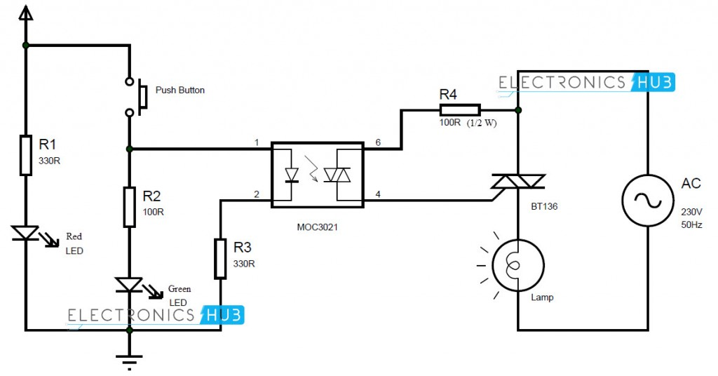simple switch and relay wiring diagram