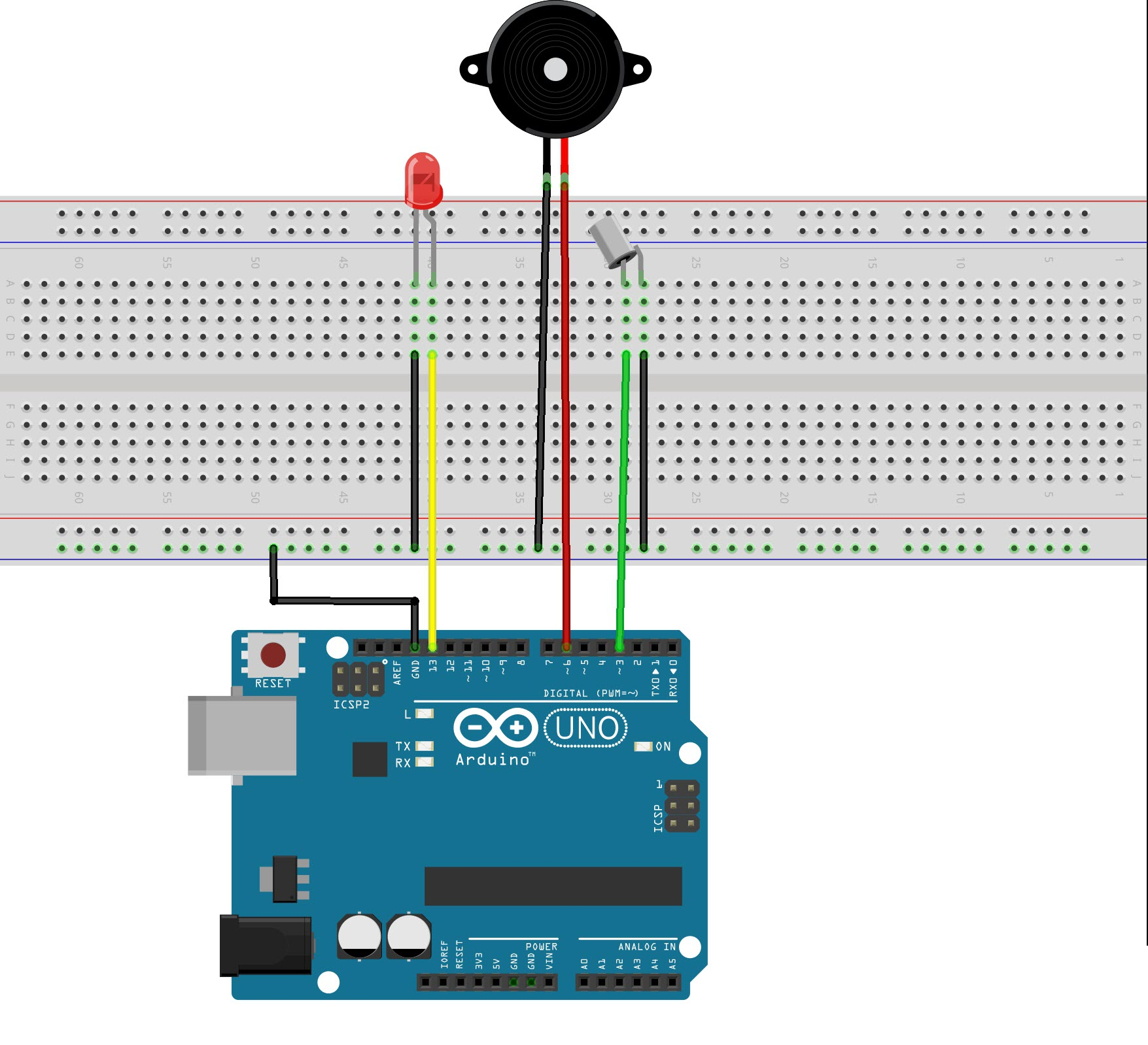 how to make a tilt sensor with arduino rh electronicshub org 5 Wire Oxygen Sensor Diagram 2000 Deville Speed Sensor Wire Diagram