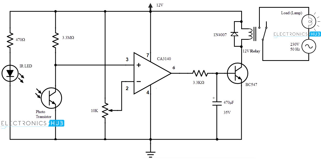 wireless light switch rh electronicshub org electronic wireless light switch circuit diagram electronic wireless light switch circuit diagram