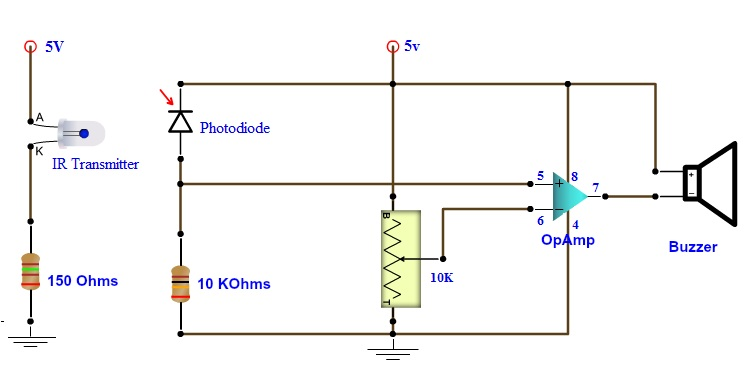 how to make best burglar alarm circuit rh electronicshub org burglar alarm circuit diagram using ic 555 burglar alarm circuit diagram using ic 555