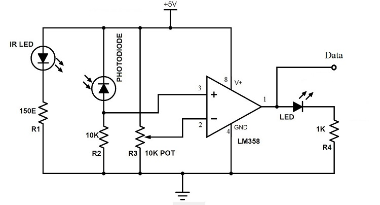 Contactless Digital Tachometer Using 8051 Microcontroller on tachometer wiring diagram