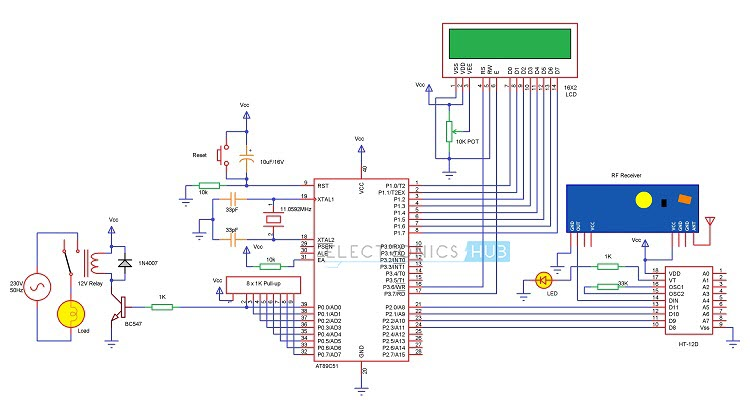 RF based Home Automation Receiver Circuit