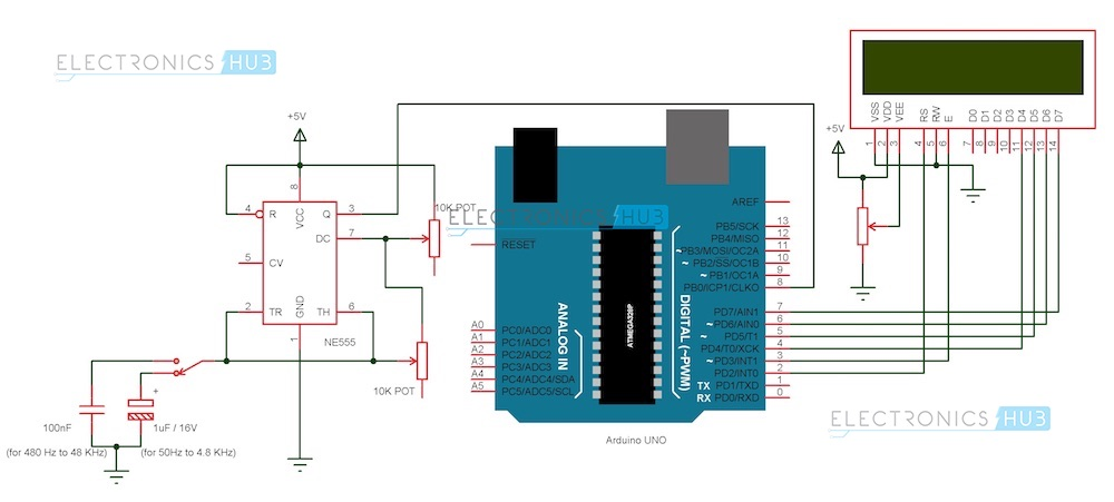 Frequency Counter Schematic Diagram : Frequency counter using arduino