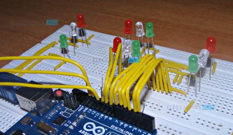 arduino traffic light controller rh electronicshub org Traffic Light Controller Cabinets Simple Light Circuit Diagram