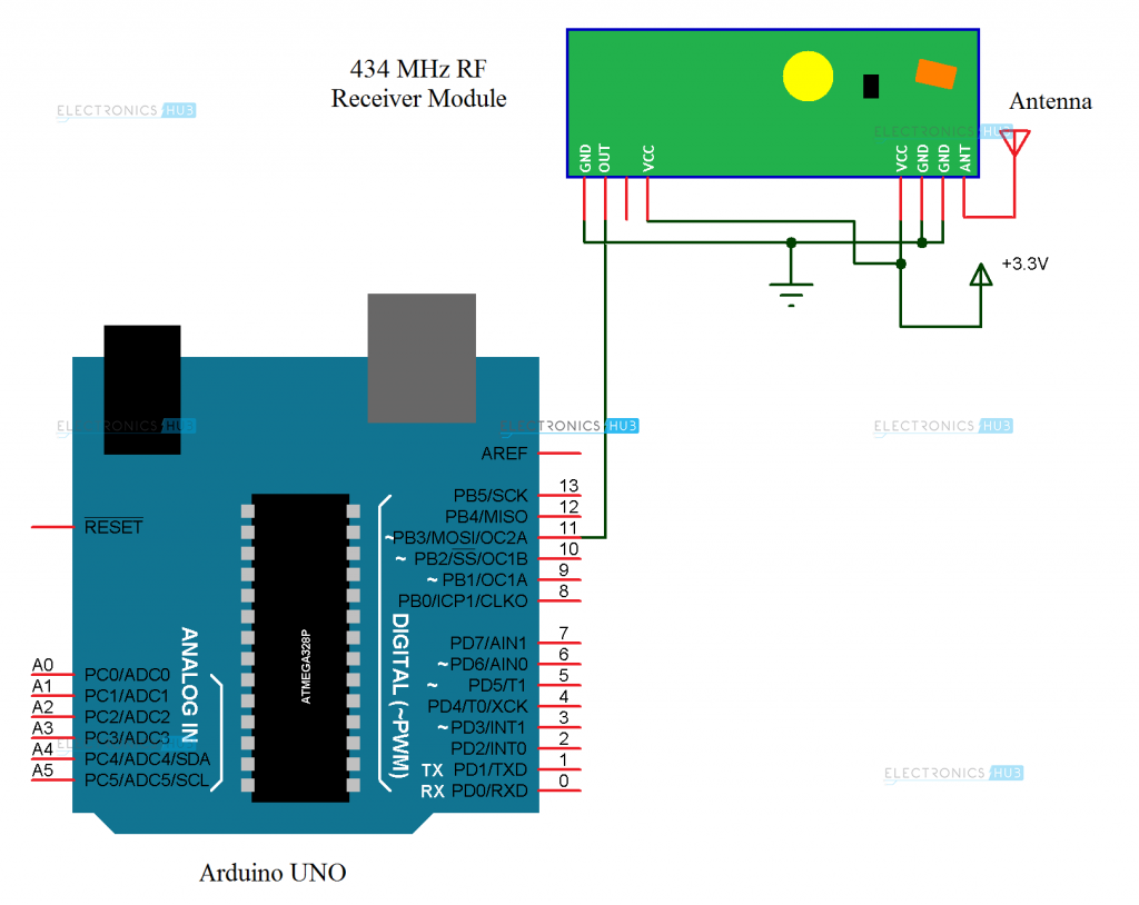 Arduino Mail Receiver Circuit