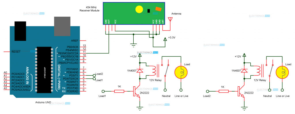 arduino home automation using rf circuit diagram simple