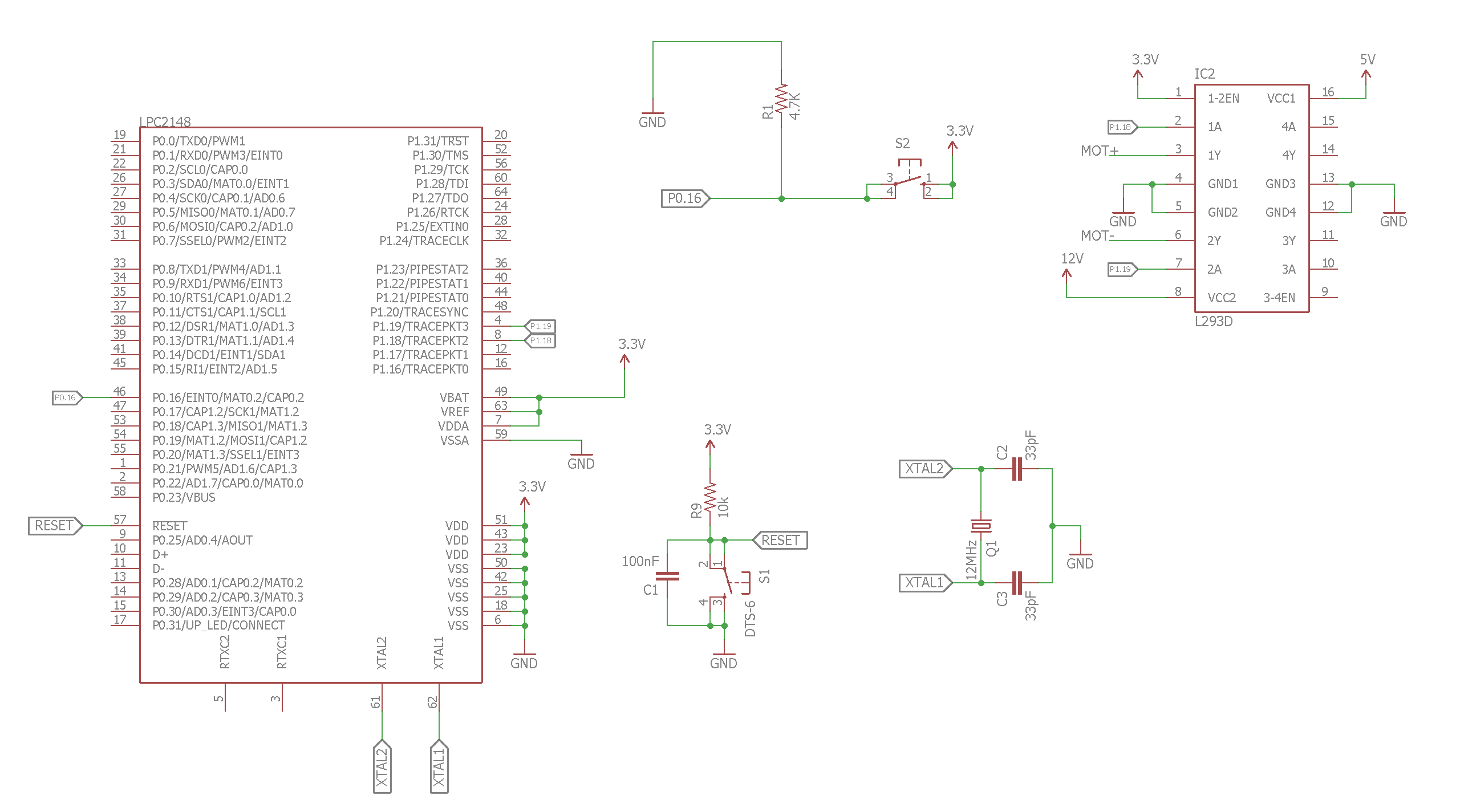Dc motor control using arm7 lpc2148 for Dc motor control circuit diagram
