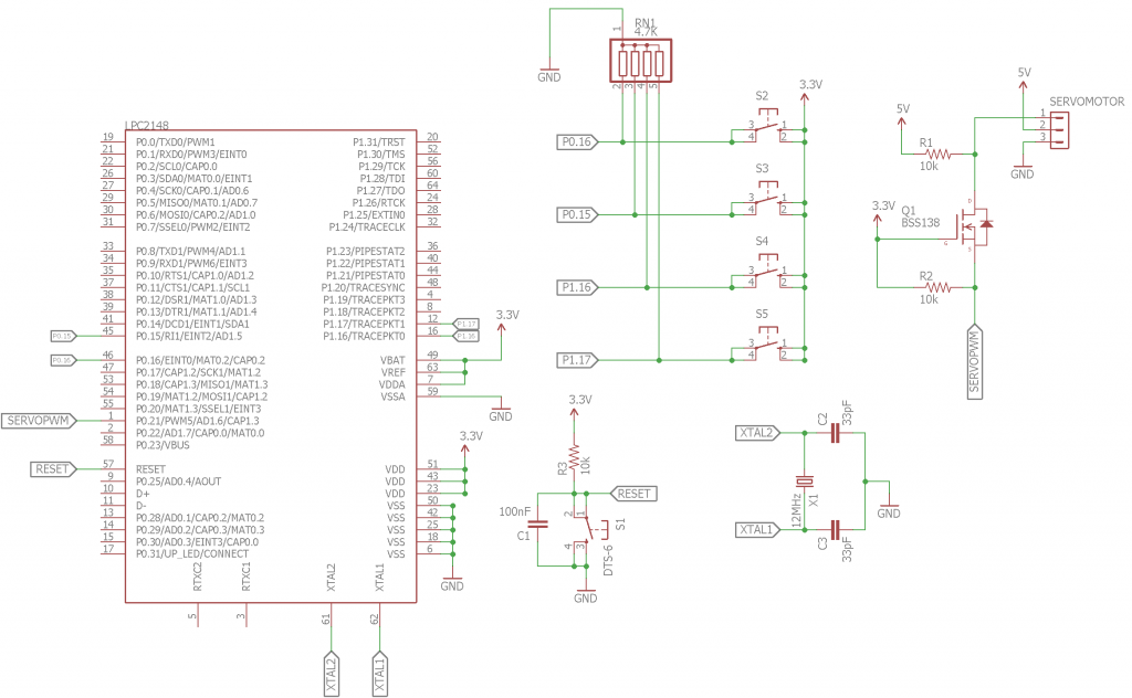 interfacing a servo motor with arm7 lpc2148