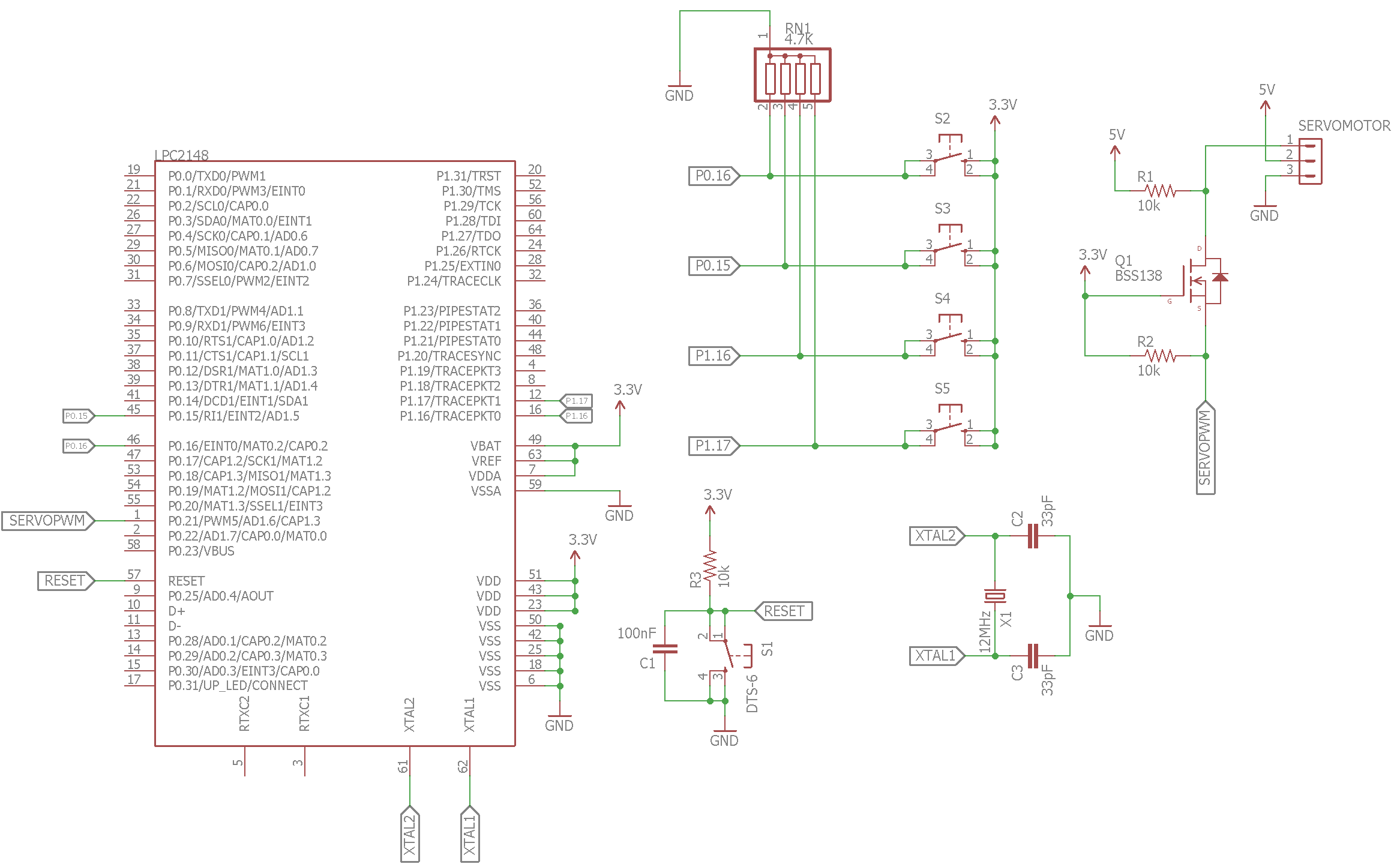 Interfacing A Servo Motor With Arm7 Lpc2148 Circuit Diagram Of 8051 Development Board Control