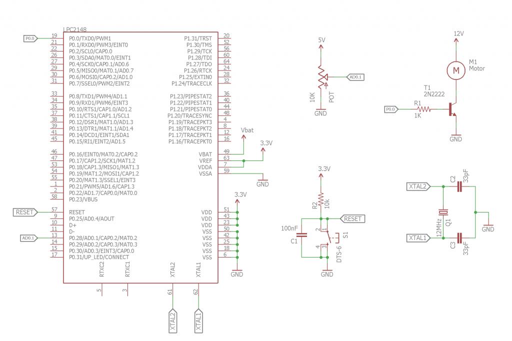 Speed Control of DC Motor Circuit