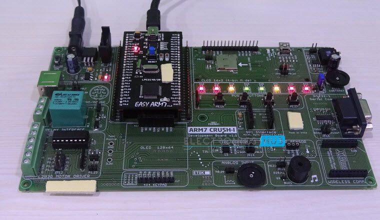 Blinking LEDs using ARM7(LPC2148)-2