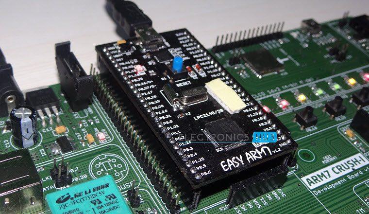 Blinking LEDs using ARM7(LPC2148)-3