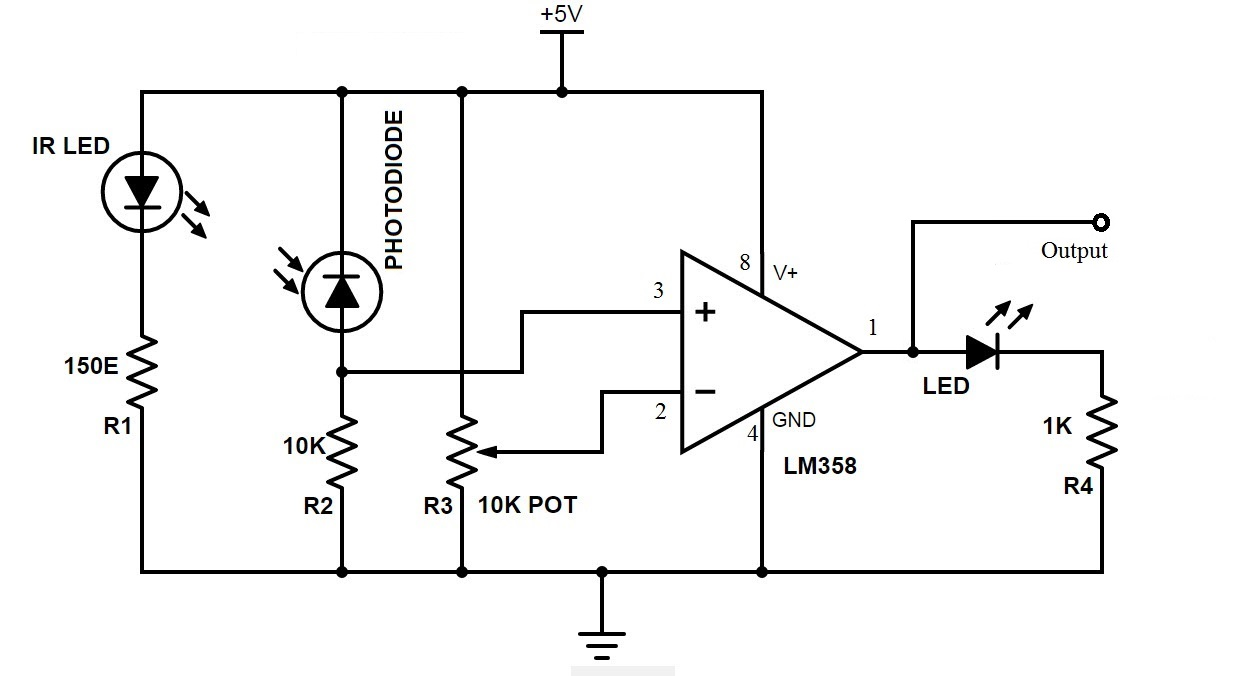 Line Following Robot Schematic Not Lossing Wiring Diagram Robotic Circuit Arduino Follower Rh Electronicshub Org Pdf