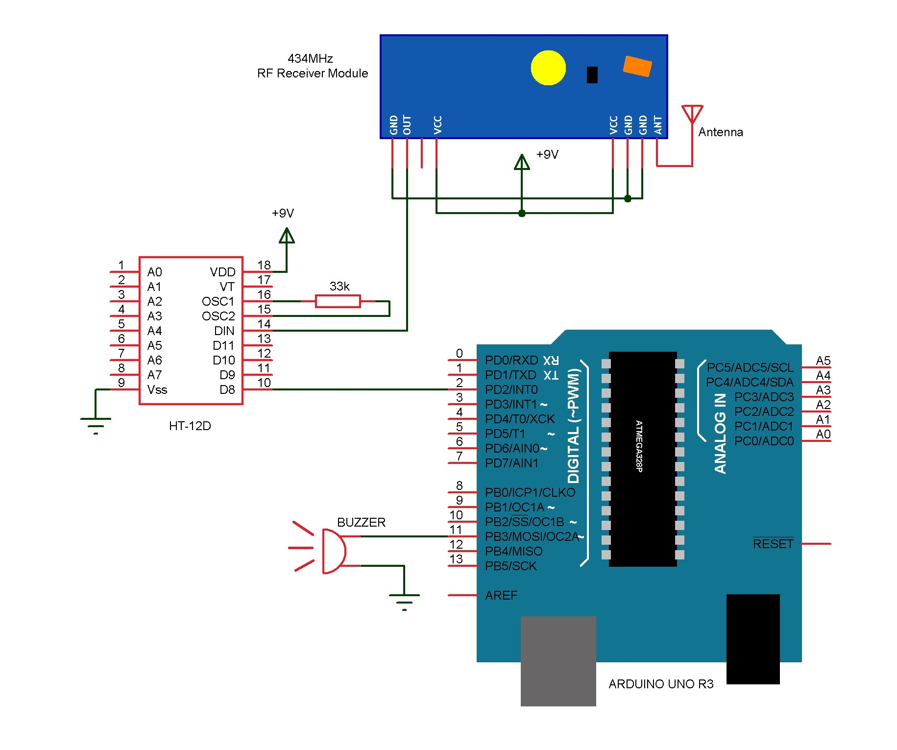 Electronic doorbell diagram