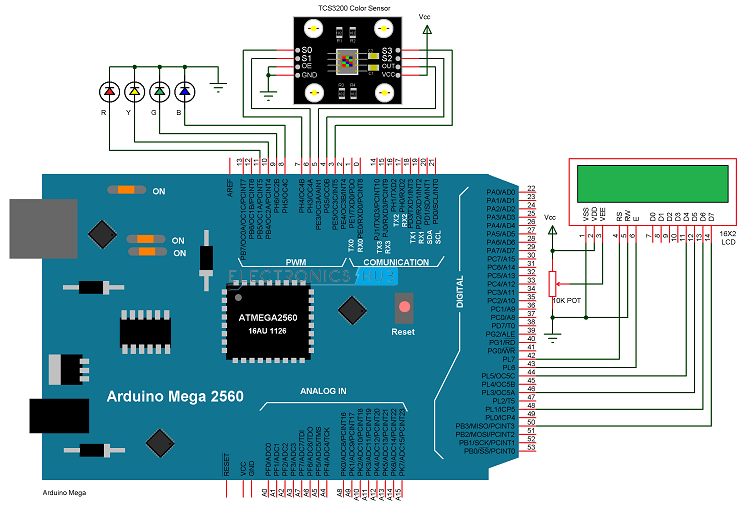 Arduino Color Sensor Circuit