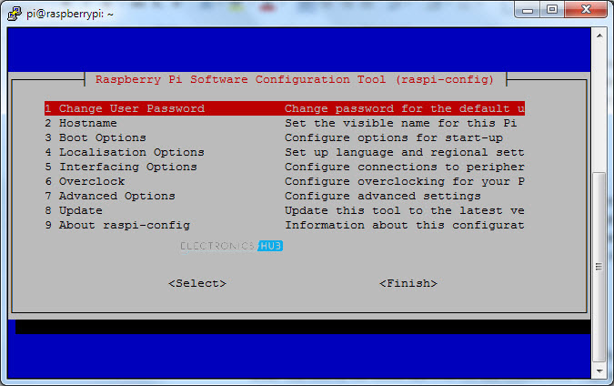 Putty Raspberry Pi Configuration