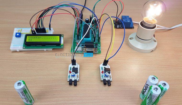 Bi Directional Visitor Counter Circuit Diagram Electronicshuborg